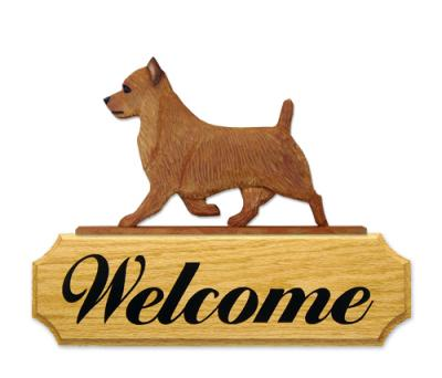 Australian Terrier Welcome Sign - Red
