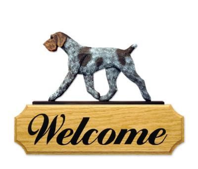 German Wirehaired Pointer Welcome Sign