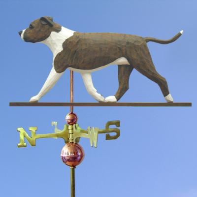AmStaff Terrier (Natural) Dog Weathervane - Brindle/White