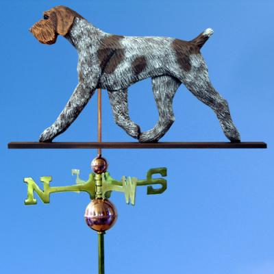 German Wirehaired Pointer Dog Weathervane