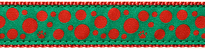 Collar - Holiday - Red Polka Paw