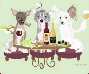 Chinese Crested Dog's WINEing