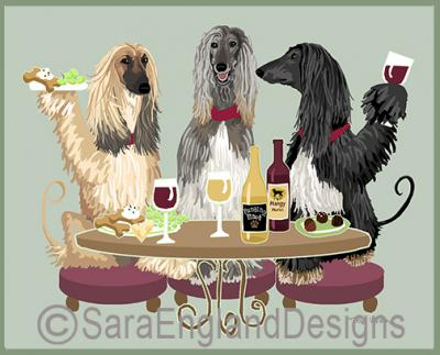 Afghan Hound Dog's WINEing