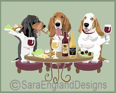 Basset Hound Dog's WINEing