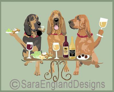 Bloodhound Dog's WINEing