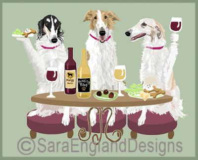 Borzoi Dog's WINEing