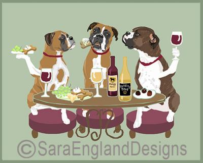 Boxer (Natural) Dog's WINEing