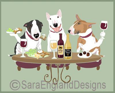Bull Terrier Dog's WINEing