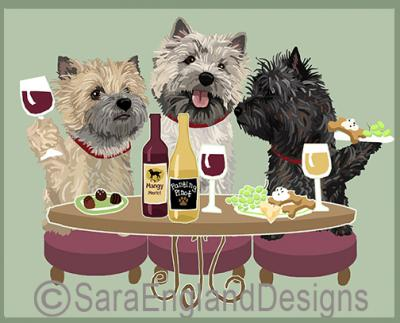 Cairn Terrier Dog's WINEing