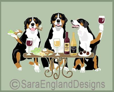 Greater Swiss Mountain Dog Dog's WINEing