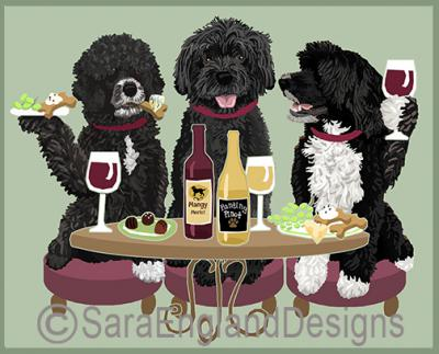 Portuguese Water Dog Dog's WINEing