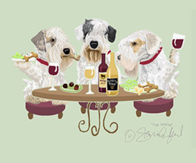 Sealyham Terrier Dog's WINEing
