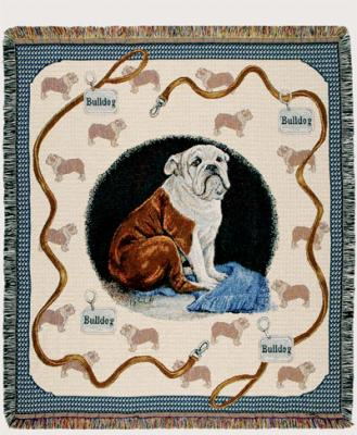 Bulldog Dog Throw