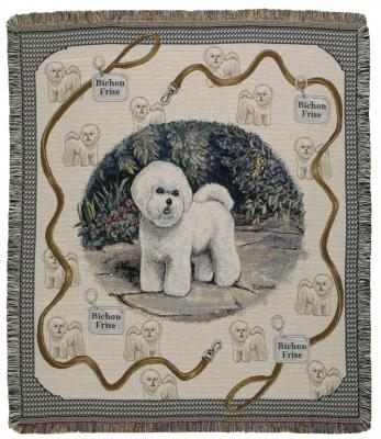 Bichon Frise Dog Throw