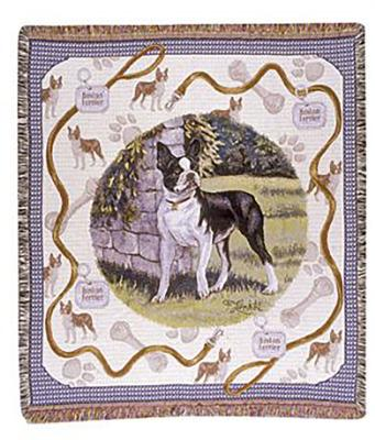 Boston Terrier Dog Throw