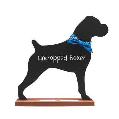Boxer (Uncropped) Dog Breed Chalkboard