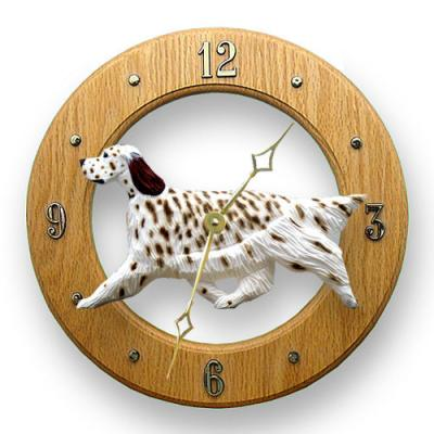 English Setter Dog Wall Clock