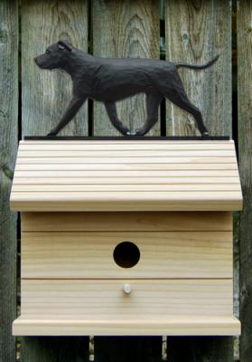 American Staffordshire Terrier Dog Bird House - Black