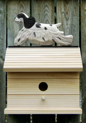 Am Cocker Spaniel Dog Bird House - Black Parti