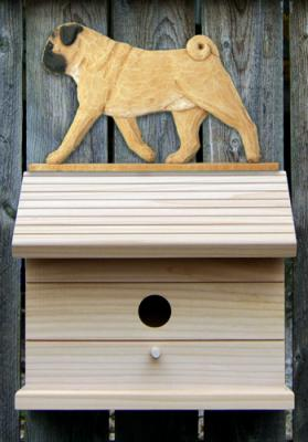 Pug Dog Bird House