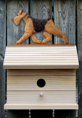 Airedale Terrier Dog Bird House