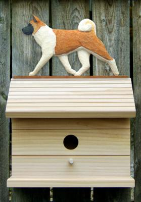 Akita Dog Bird House - Pinto