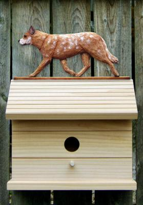 Australian Cattle Dog Bird House - Red Merle