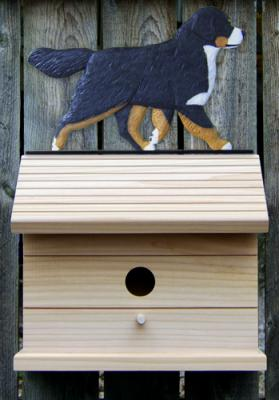 Bernese Mountain Dog Bird House