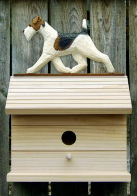 Wire Fox Terrier Dog Bird House