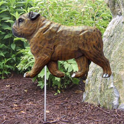 English Bulldog Dog Garden Stake