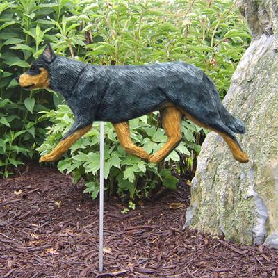 Australian Cattle Dog Garden Stake - Blue Merle