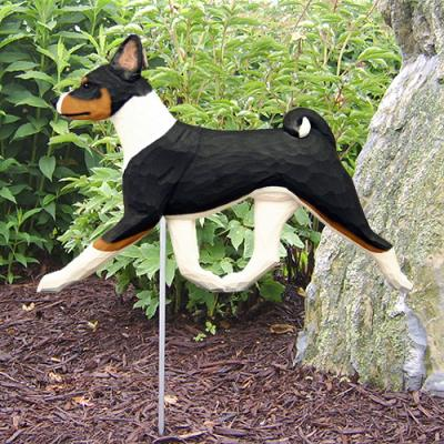 Basenji Dog Breed Garden Stake - Tri