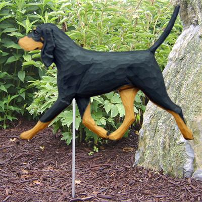 Black and Tan Coonhound Dog Garden Stake