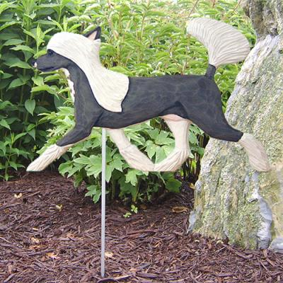 Chinese Crested Dog Garden Stake