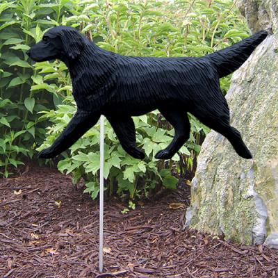 Flat-Coated Retriever Dog Garden Stake