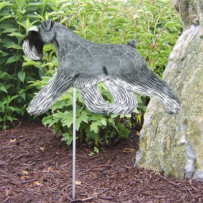 Schnauzer, Natural Dog Garden Stake