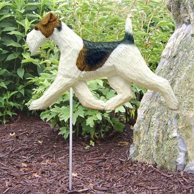 Wire Fox Terrier Dog Garden Stake