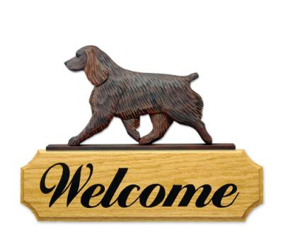 Boykin Spaniel Dog Welcome Sign