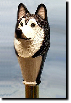 Alaskan Malamute Dog Breed Walking Stick