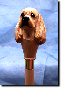 American Cocker Spaniel  Dog Breed Walking Stick