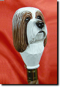 Bearded Collie Dog Breed Walking Stick