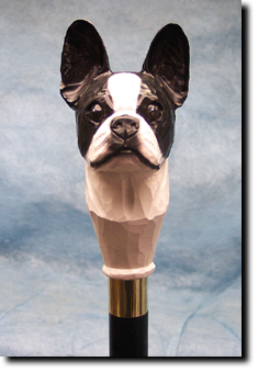 Boston Terrier Dog Breed Walking Stick