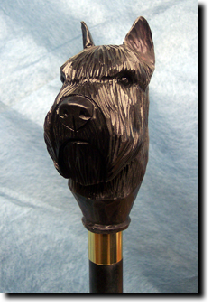 Bouvier des Flandres Dog Breed Walking Stick