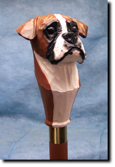 Boxer (Natural) Dog Breed Walking Stick