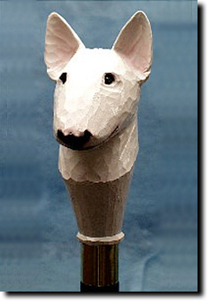 Bull Terrier Dog Breed Walking Stick