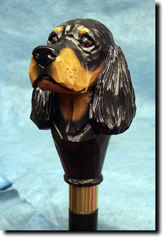 Gordon Setter Dog Breed Walking Stick