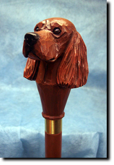Irish Setter Dog Breed Walking Stick
