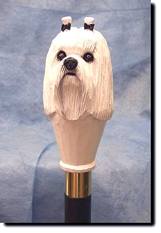 Maltese Dog Breed Walking Stick