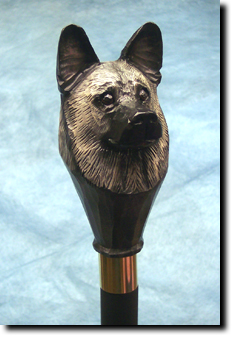 Norwegian Elkhound Dog Breed Walking Stick