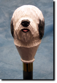 Old English Sheepdog Dog Breed Walking Stick